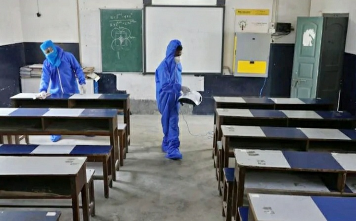 Schools in Andhra Pradesh reopen with strict adherence to Covid-19 precautions