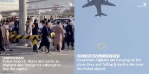 5 Afghans killed in Kabul Airport, 3 fall off flying plan and die