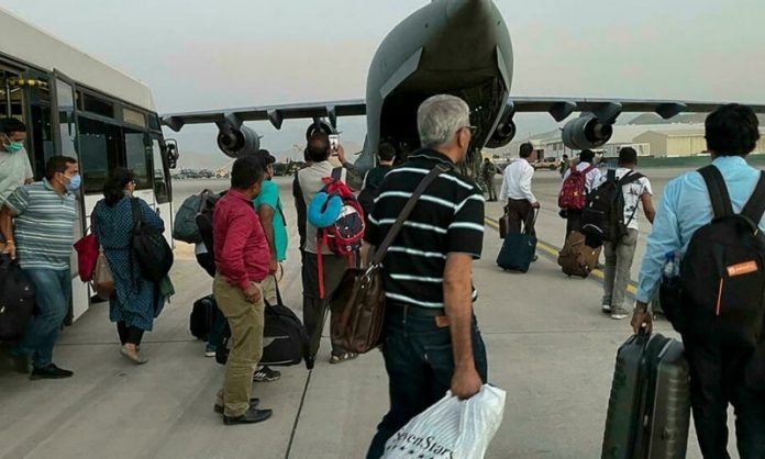 400 flown to India on Sunday, 60 Afghans, including 23 Sikhs and Hindus