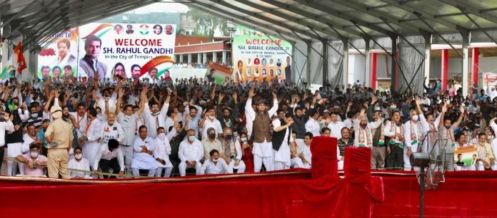 Rahul Gandhi outreach in Jammu amid excited crowds