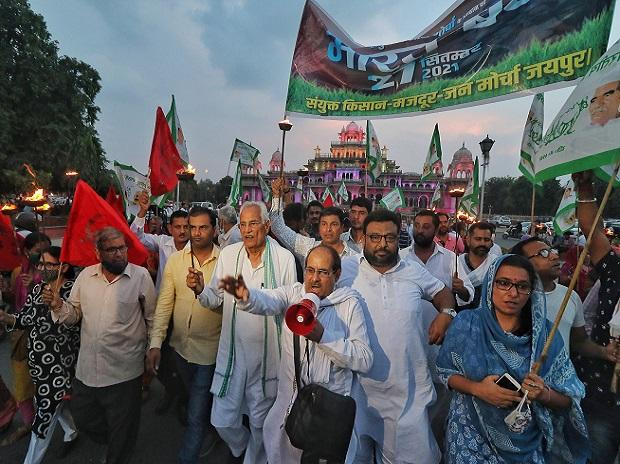 Bharat Bandh all over India , all support farmers' national strikeort farmers' national strike