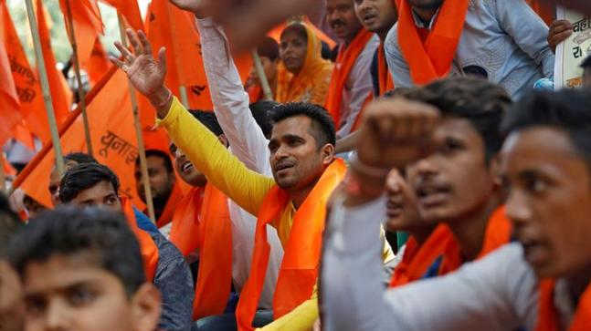 Chattisgarh: Hindu RW took a rally demanding slaughter of Muslims in India, cops chased them with sticks